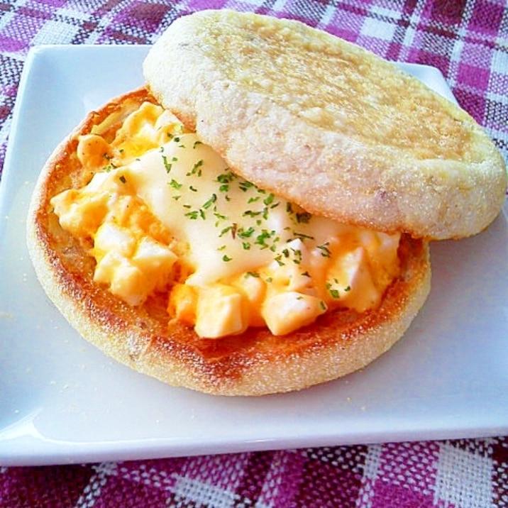 卵サラダ&とろけるチーズのイングリッシュマフィン