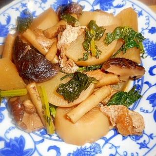 大根・牛蒡・油揚げ・椎茸の煮物