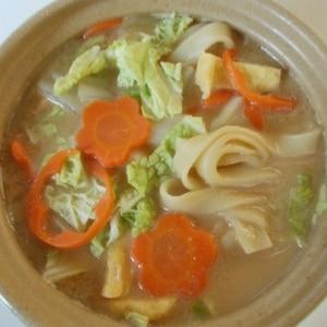 土鍋で作る♥温かい「ほうとう」