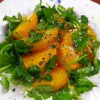 柿クレソンハニーサラダ