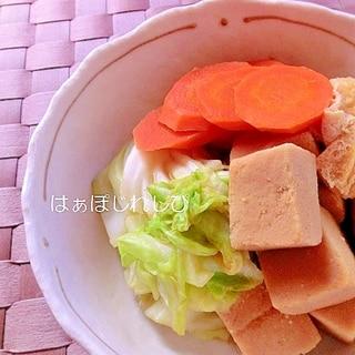 春キャベツと高野豆腐の煮物✿