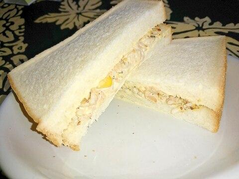 大根とツナのサンドイッチ