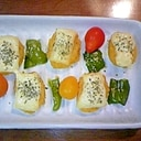ちょっとアレンジ☆チキンナゲットのバジルチーズ焼き