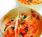 大根とわかめとにんじんの中華サラダ