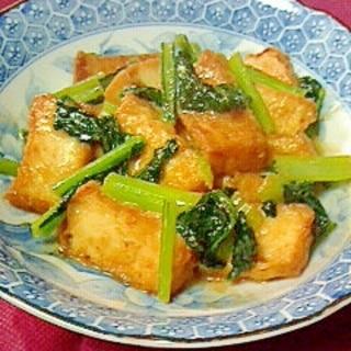 ご飯が進む~♪厚揚げと青菜の味噌炒め