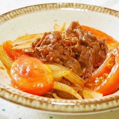牛肉とトマトのケチャップ炒め♪