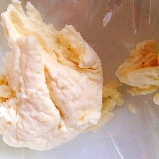 冷凍ヨーグルトでカッテージチーズ