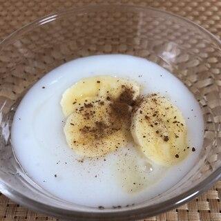 蜂蜜シナモン*バナナヨーグルト