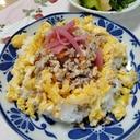 高野豆腐入り肉そぼろで♫そぼろご飯