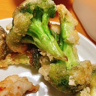 ブロッコリーの麺つゆ揚げ