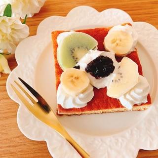 フルーツケーキみたいな幸せトースト✧˖°