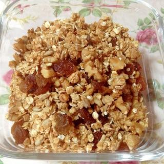 油不使用♡シナモン香る蜂蜜グラノーラ