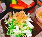 豆苗と長芋のサラダ