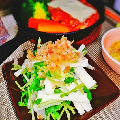 簡単♪豆苗と長芋のサラダ
