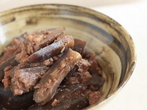 茄子の胡桃味噌煮。