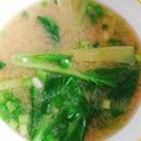 煮干し出汁で☆小松菜と小ネギのお味噌汁
