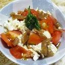豆腐トマトメンマの簡単サラダ