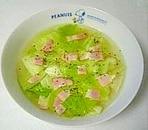 サラダに飽きたら☆レタスベーコンの洋風スープ☆