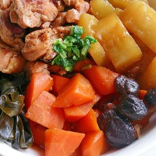 冬瓜と鶏肉・昆布の煮物