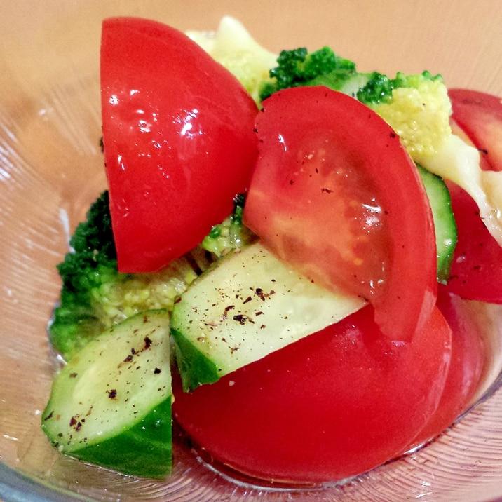 ブロッコリーとトマトときゅうりのサラダ