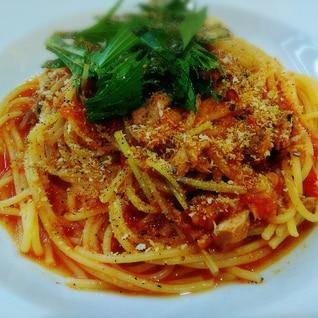 フレッシュトマトとツナのシチリア風スパゲッティ