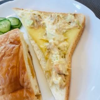 ★朝食★マヨシーチキントースト
