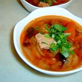 コチュジャン入り肉団子スープ