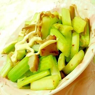 塩麹きのこde❤大蒜香るセロリの炒め物❤