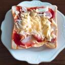 玉ねぎピザトースト