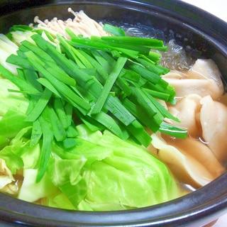 鶏ガラスープのパパッと餃子鍋♪♪