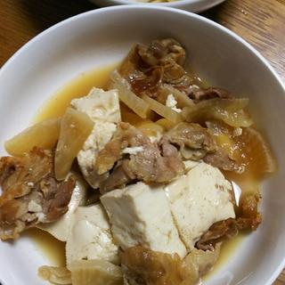 豚バラと大根の肉豆腐