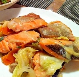 野菜たっぷり!!鮭のちゃんちゃん焼き