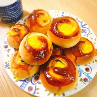 手作り☆惣菜ロールパン パンプキン編