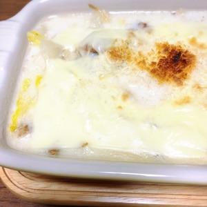 豚肉と白菜とえのきのとろとろクリームグラタン♪
