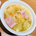 ベーコンとキャベツと人参のスープ
