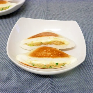はんぺんの鮭チーズサンド