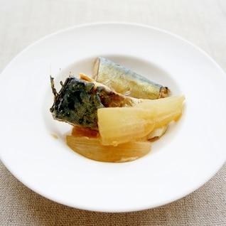 玉ねぎ入りサバの味噌煮