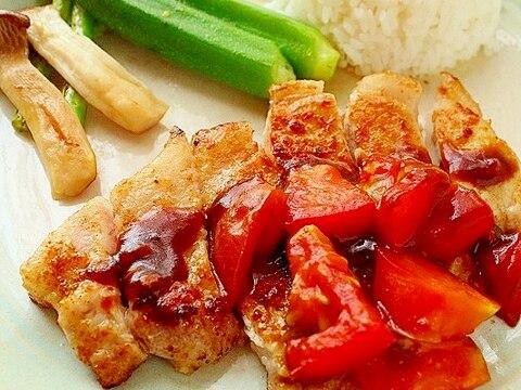 ポークソテー~カレートマトソース~