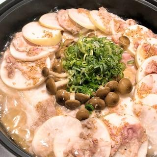 【大根大量消費】豚肉と大根のミルフィーユ鍋