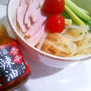 【糖質制限】糸寒天でなんちゃって冷麺(サラダ麺)