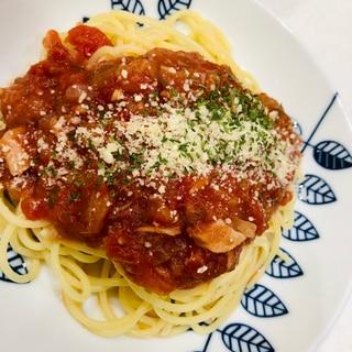 【クックフォーミー 】ツナとナスのトマトパスタ