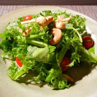 わさび菜の和風サラダ