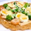 簡単!春野菜のビーフンピザ♪サクサク美味しい米麺
