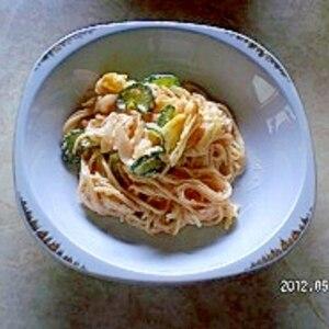 春キャベツと新玉ねぎのスパゲッティサラダ