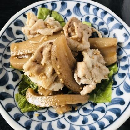 生姜焼きに蓮根がよく合いますね。 蓮根のシャキシャキとした食感が良くて、食べ応えがあって美味しかったです。