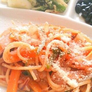 フライパン一つで!ナポリタンスパゲッティ