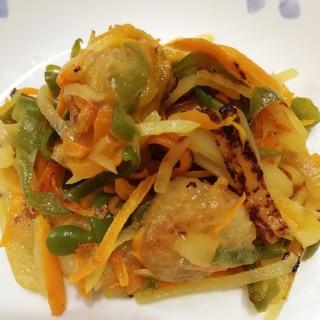 ホタテと野菜のオイスターソース炒め