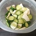きゅうりと山芋の酢の物