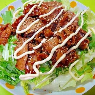 豚しゃぶ肉で☆焼肉サラダ