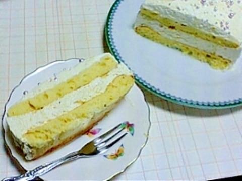 かぼちゃのショートケーキ(^o^)